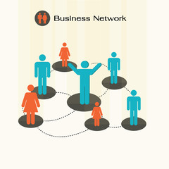 social network community  team,business network.