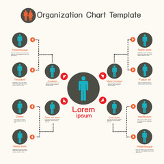 Organization chart template,business presentation