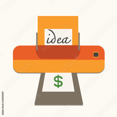 idea with make money ,concept.