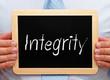 Integrity - Businessman with Chalkboard