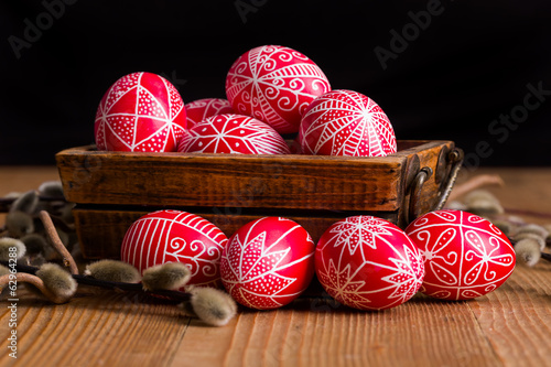 Traditional transylvanian hand written eggs