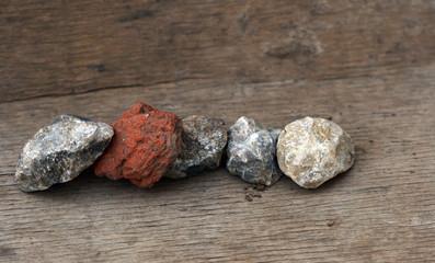 stones and piece of ceramic