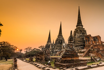 old Temple at Wat Phra si sanphet