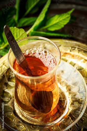 Turkish mint tea