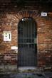 Old metal entrance door in Venice