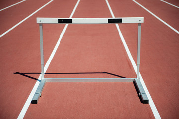 Hurdle on the running track