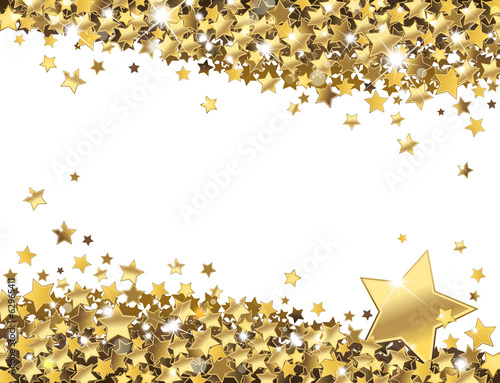background of shiny gold stars