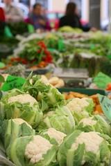On farmers marketCauliflower (Brassica oleracea)