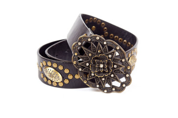 Female belt with rivets