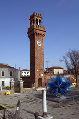 Murano Blue Sculpture in Venice