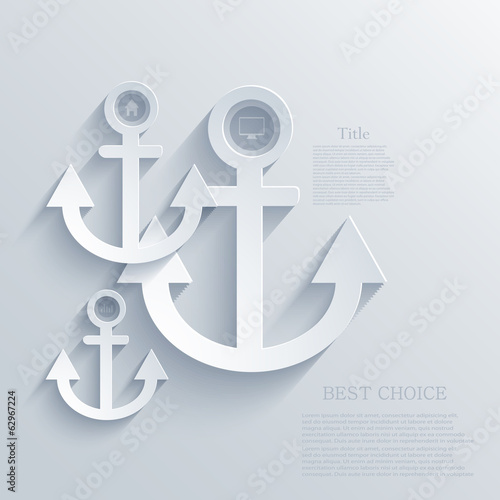 Vector modern anchor background. Eps 10 illustration