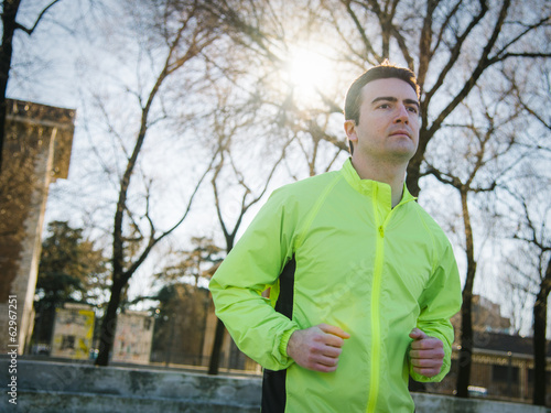 man running outdoor