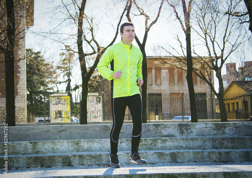 man jogging outdoor