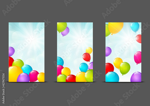 Set of vertical banners 240 x 400 size