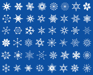 snowflakes design set