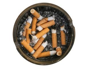 Unhealthy lifestyle concept smoking cigarettes