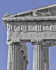 Parthenon pediment , horse heads and Dionysus, Athens Greece