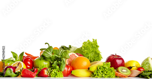 canvas print picture Fruit and vegetable borders