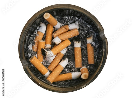 Unhealthy lifestyle concept smoking cigarettes
