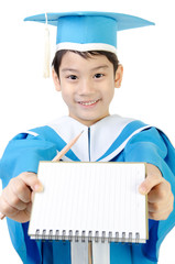Asian Child with notebook