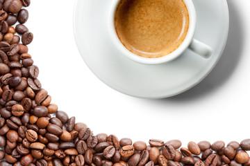 Caffè espresso con chicchi