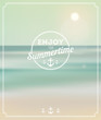 Summer background. Enjoy summertime - summer typography