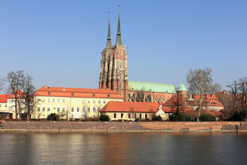 ostrow tumski in wroclaw, cathedral