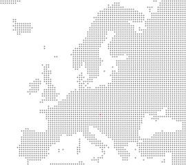 Pixelkarte Europa: Wien liegt hier