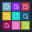 Document web icons set 2, color buttons