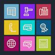 Finance web icons set 2, color buttons