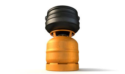 Gas Burner With Potjie Pot