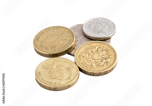 Coins, British pounds