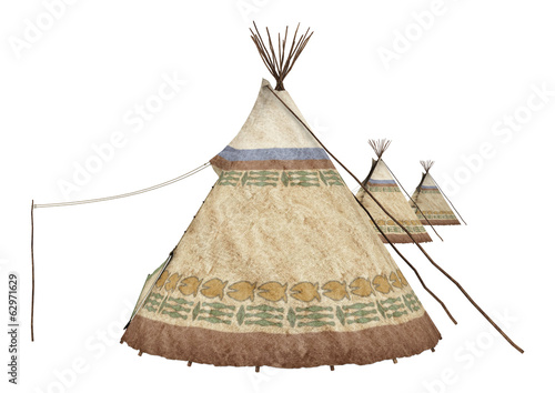 Native American Teepees