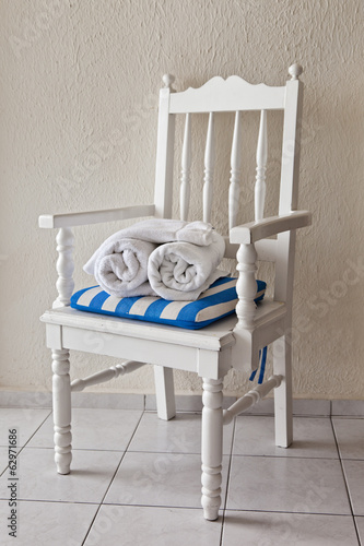 Fresh Towels and Chair
