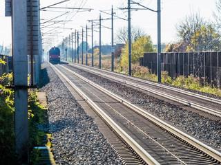 Schienen einer Eisenbahn