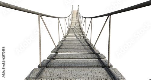 Foto op Plexiglas Brug Rope Bridge