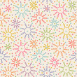 Seamless pattern with flower of doodle