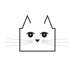 sweet and cute cat vector