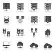Hosting technology pictograms set - 62973093
