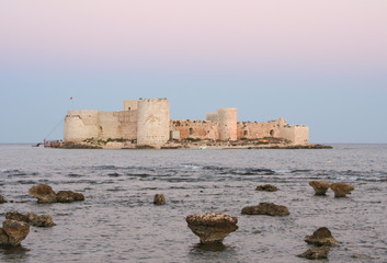 Kizkalesi Maiden's Castle during Sunset