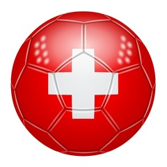 Ballon de football aux couleurs de la Suisse