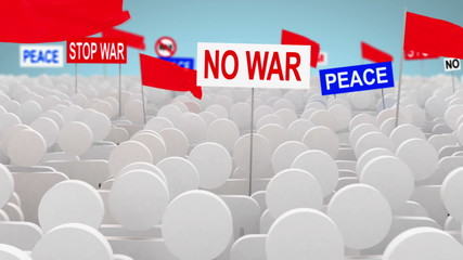 No war, 3d animation
