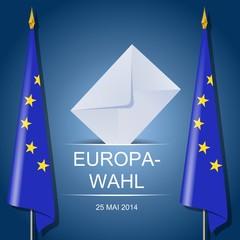 Europawahlen mit Fahnen