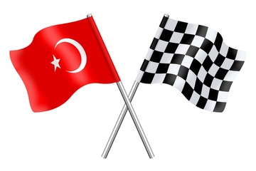 Flags : Turkey and checkerboard