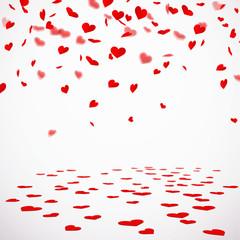 Herzkonfetti mit konfettiboden