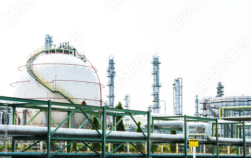 Natural Gas Tank on white background(sphere tank)