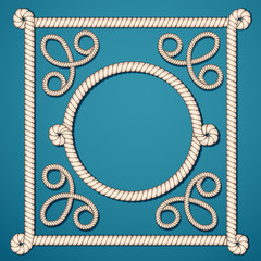 Set frame of rope