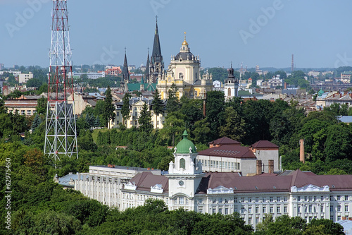 St. George's Cathedral and Church of St. Elizabeth in Lviv