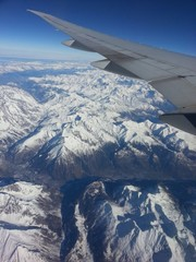 over the swiss alps