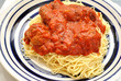 Angel Hair Pasta with Meatballs and Tomato Sauce